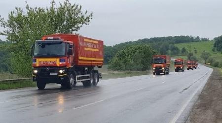 11 camioane cu ajutoare umanitare din partea României au ajuns la  Cernăuți